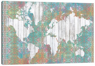 Boho Map I Canvas Art Print
