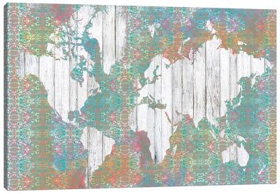 Boho Map I Canvas Print #JGO19