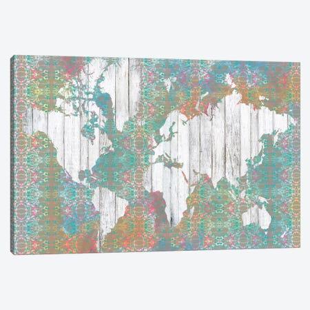 Boho Map I Canvas Print #JGO19} by Jennifer Goldberger Canvas Art Print