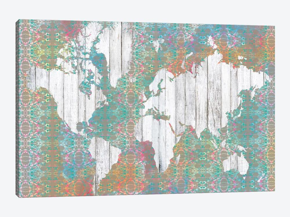 Boho Map I by Jennifer Goldberger 1-piece Canvas Print