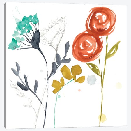 Painted Whimsy I Canvas Print #JGO204} by Jennifer Goldberger Canvas Art