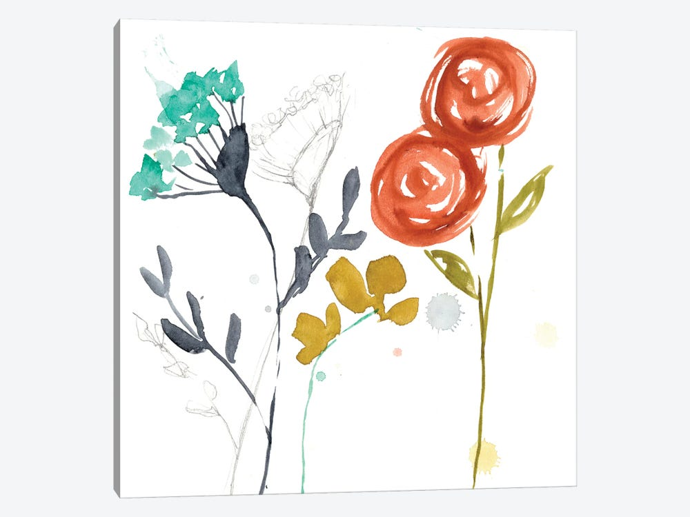 Painted Whimsy I by Jennifer Goldberger 1-piece Canvas Art Print