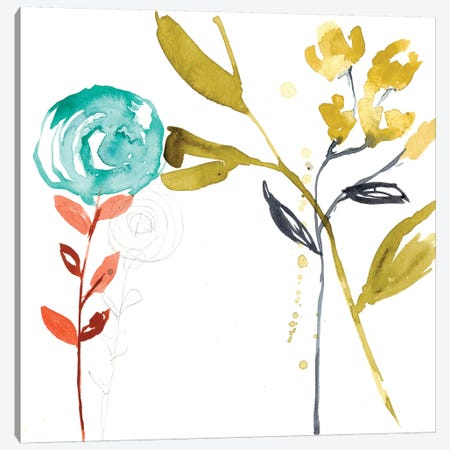 Painted Whimsy III Canvas Print #JGO205} by Jennifer Goldberger Canvas Art
