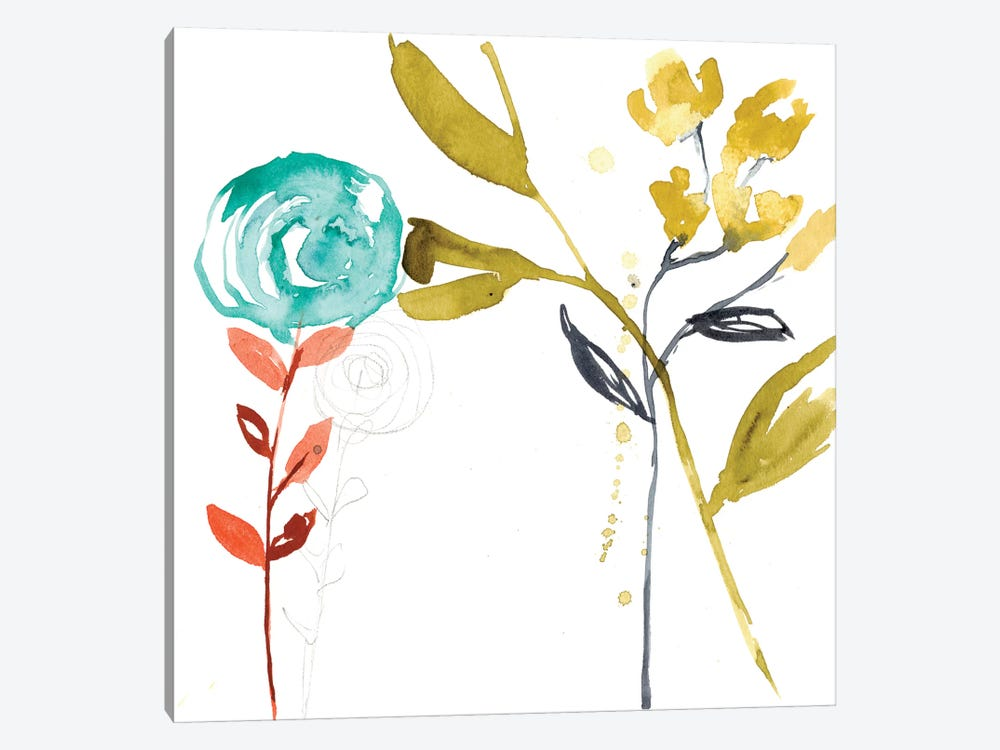 Painted Whimsy III by Jennifer Goldberger 1-piece Canvas Art