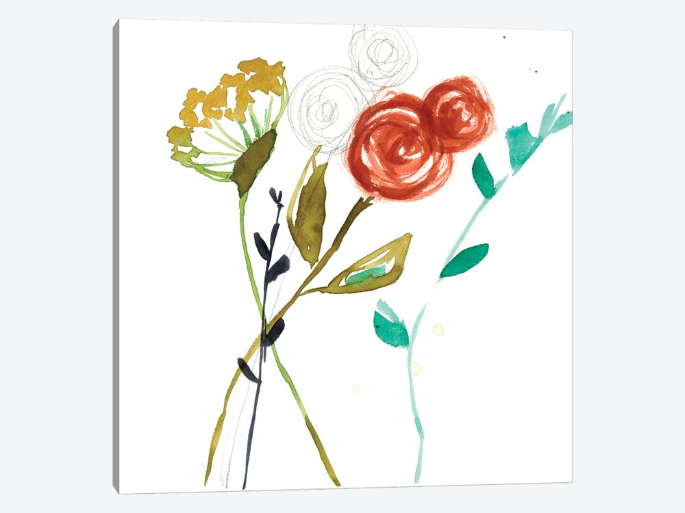 Painted Whimsy VIII by Jennifer Goldberger 1-piece Canvas Wall Art