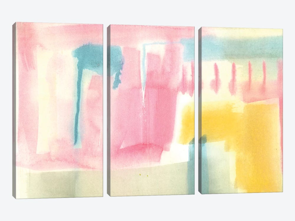 Pastel Luxe III by Jennifer Goldberger 3-piece Canvas Print