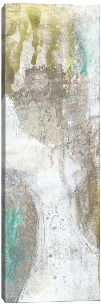 Citron & Teal Orbs I Canvas Print #JGO21