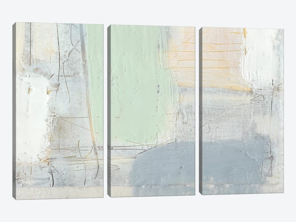 Pastels In Wax IV by Jennifer Goldberger 3-piece Canvas Art