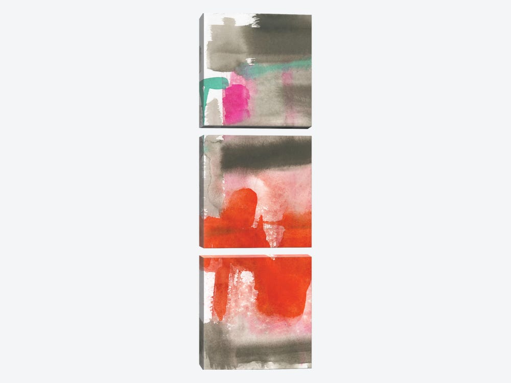 Red, Pink & Grey I 3-piece Canvas Wall Art