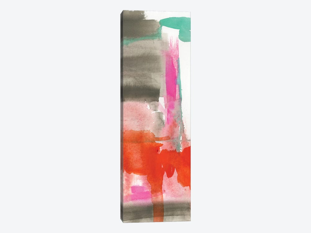 Red, Pink & Grey II by Jennifer Goldberger 1-piece Art Print