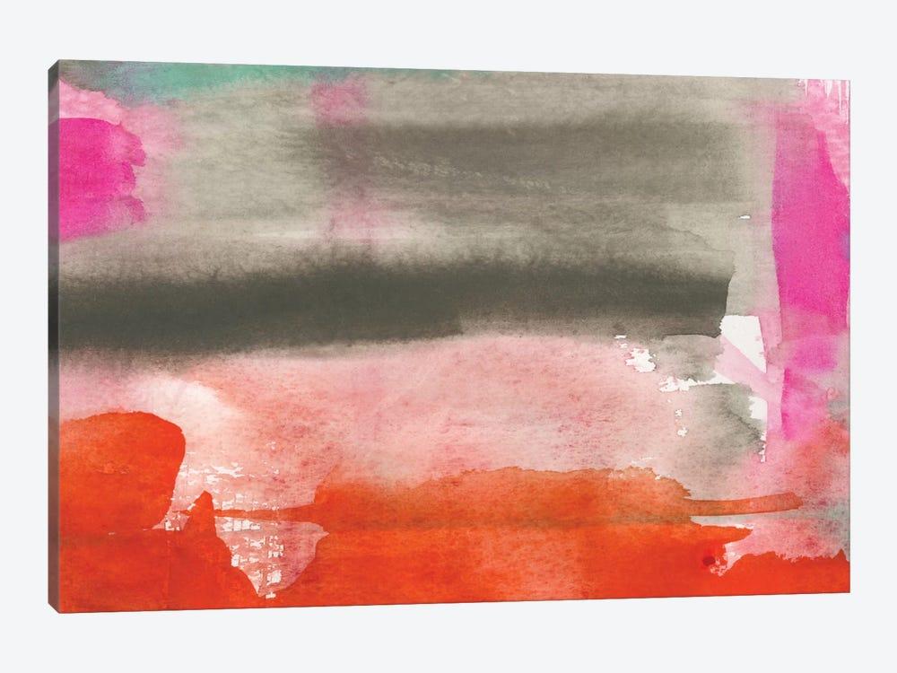 Red, Pink & Grey III by Jennifer Goldberger 1-piece Canvas Wall Art