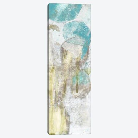 Citron & Teal Orbs II Canvas Print #JGO22} by Jennifer Goldberger Canvas Artwork