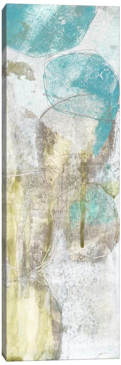 Citron & Teal Orbs II Canvas Print #JGO22