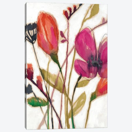 Vivid Arrangement I Canvas Print #JGO237} by Jennifer Goldberger Art Print