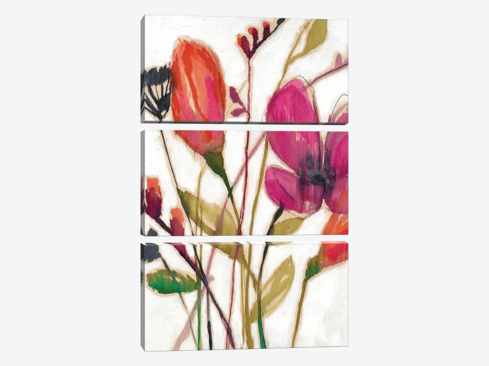 Vivid Arrangement I by Jennifer Goldberger 3-piece Canvas Print