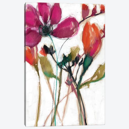 Vivid Arrangement II Canvas Print #JGO238} by Jennifer Goldberger Canvas Art