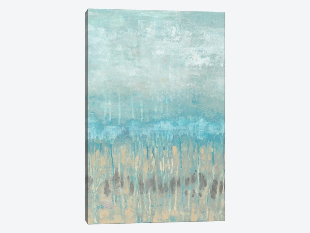 Coastline Abstraction I by Jennifer Goldberger 1-piece Canvas Artwork