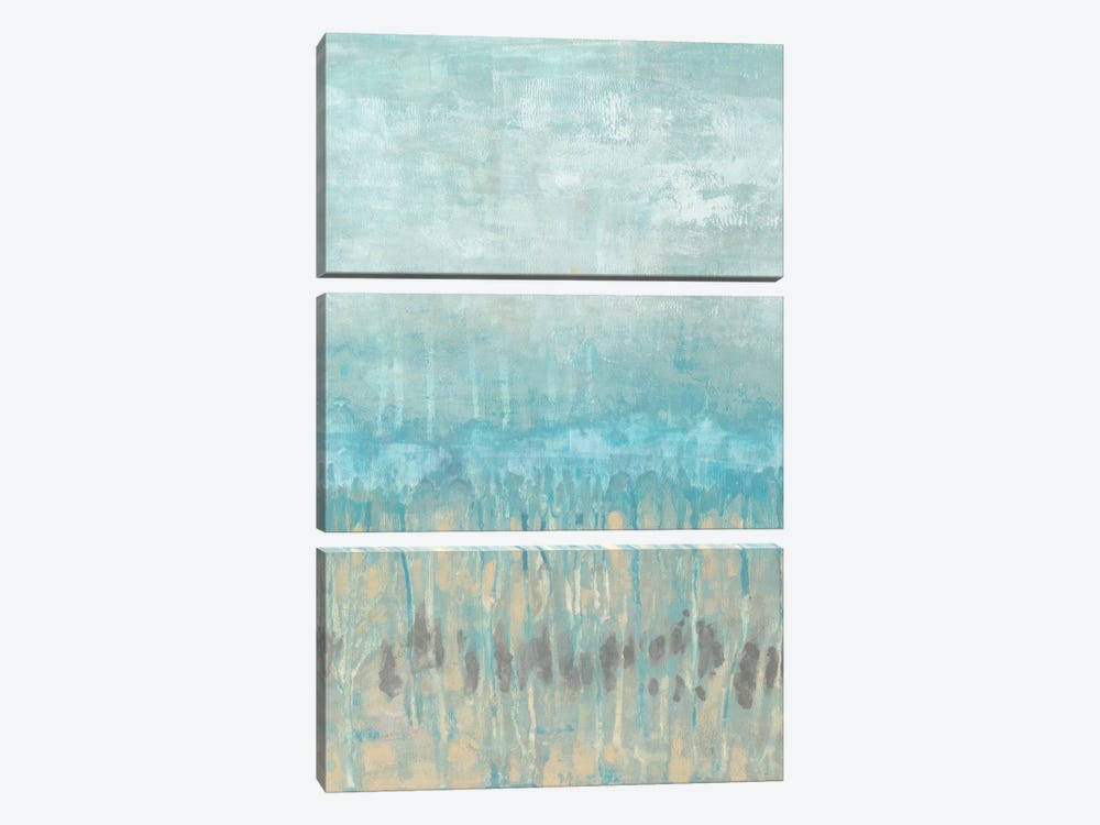 Coastline Abstraction I by Jennifer Goldberger 3-piece Canvas Artwork