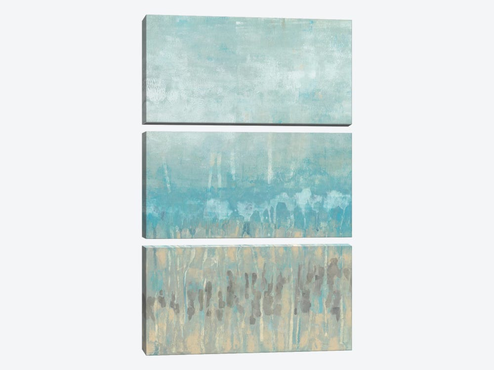 Coastline Abstraction II by Jennifer Goldberger 3-piece Canvas Art Print