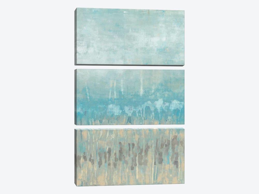 Coastline Abstraction II by Jennifer Goldberger 3-piece Canvas Art Print