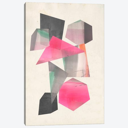 Collaged Shapes I Canvas Print #JGO251} by Jennifer Goldberger Canvas Wall Art