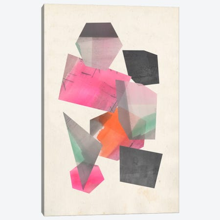 Collaged Shapes II Canvas Print #JGO252} by Jennifer Goldberger Canvas Art