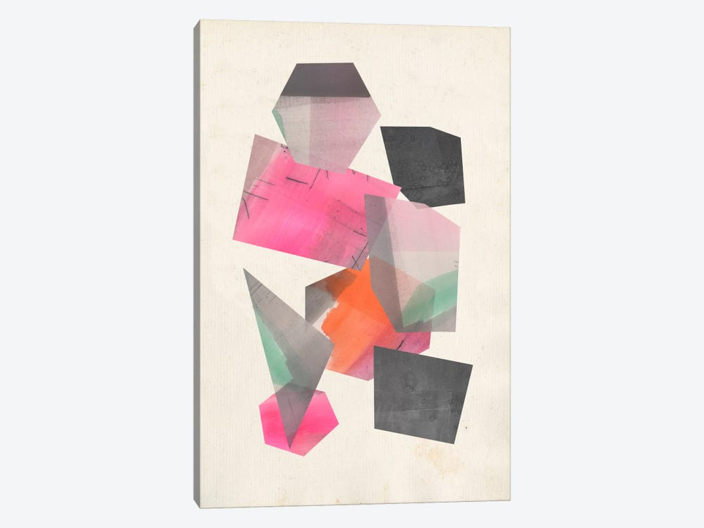 Collaged Shapes II by Jennifer Goldberger 1-piece Canvas Wall Art