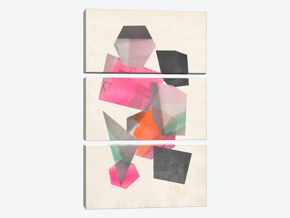 Collaged Shapes II by Jennifer Goldberger 3-piece Canvas Wall Art
