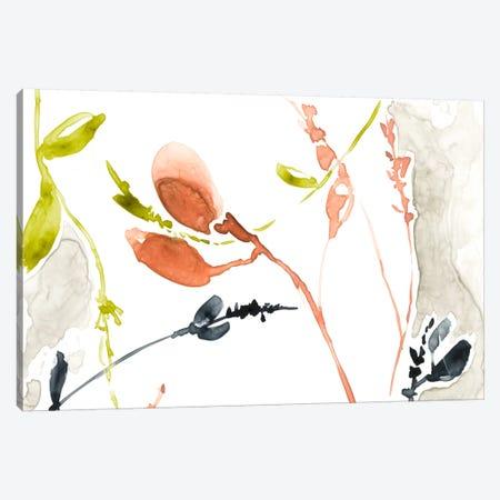 Coral & Navy I Canvas Print #JGO253} by Jennifer Goldberger Canvas Wall Art