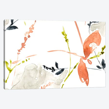Coral & Navy II Canvas Print #JGO254} by Jennifer Goldberger Canvas Print