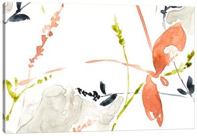Coral & Navy II Canvas Art Print