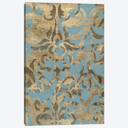 Damask Over Gold I Canvas Print #JGO255} by Jennifer Goldberger Art Print