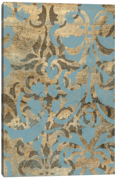 Damask Over Gold I Canvas Art Print