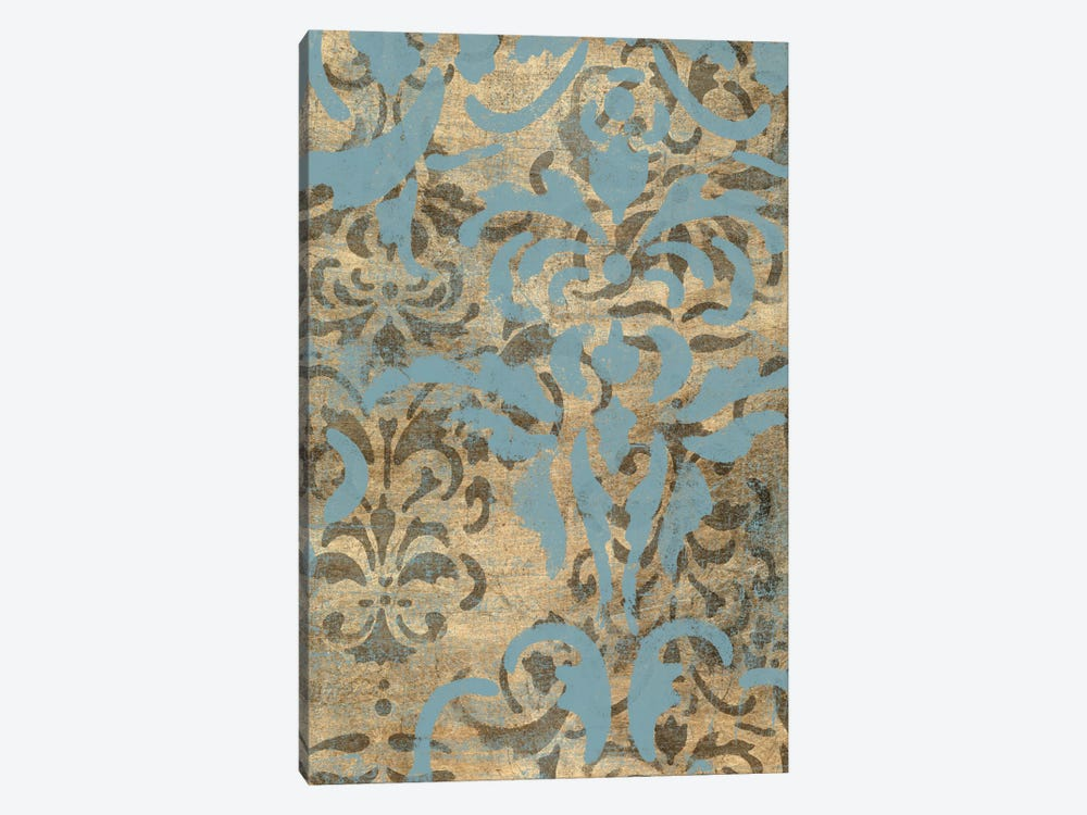 Damask Over Gold II by Jennifer Goldberger 1-piece Canvas Wall Art
