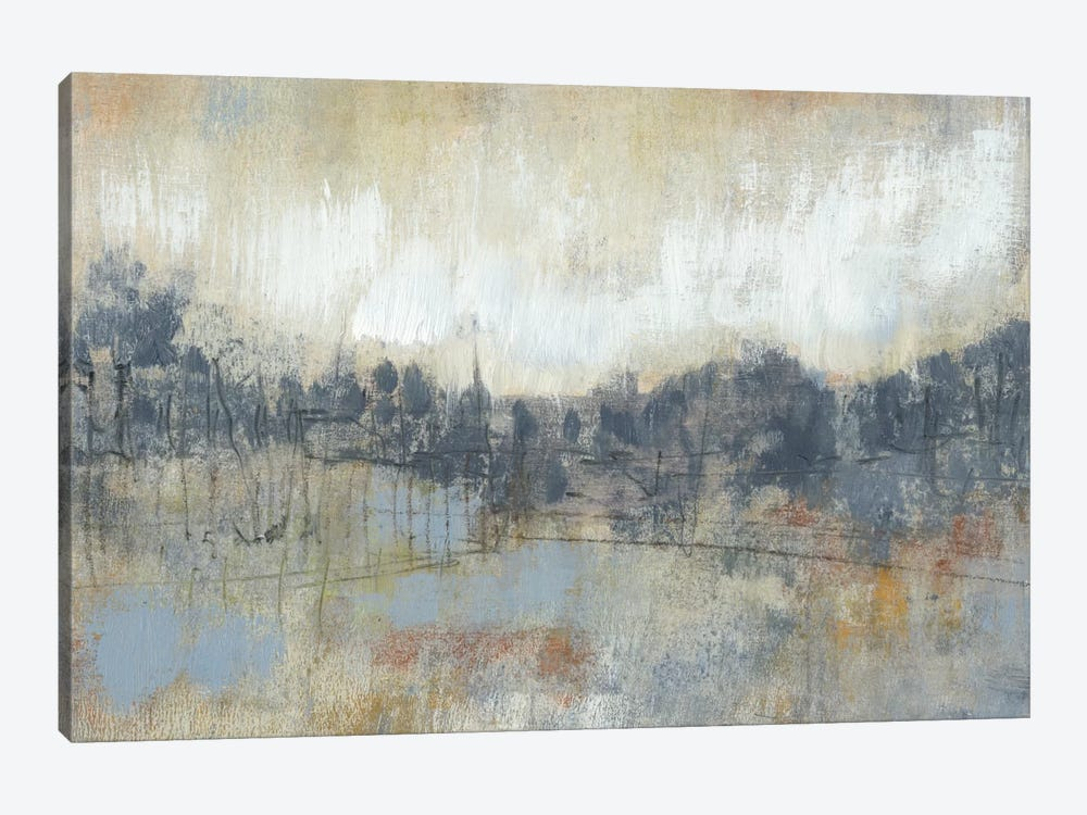 Cool Grey Horizon I by Jennifer Goldberger 1-piece Canvas Wall Art