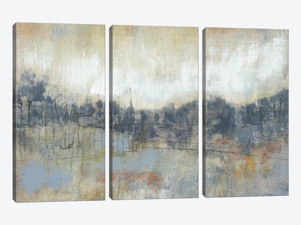 Cool Grey Horizon I by Jennifer Goldberger 3-piece Canvas Wall Art