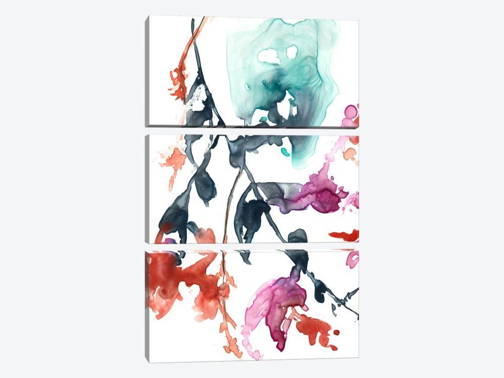 Hanging Fuchsia I by Jennifer Goldberger 3-piece Canvas Art Print