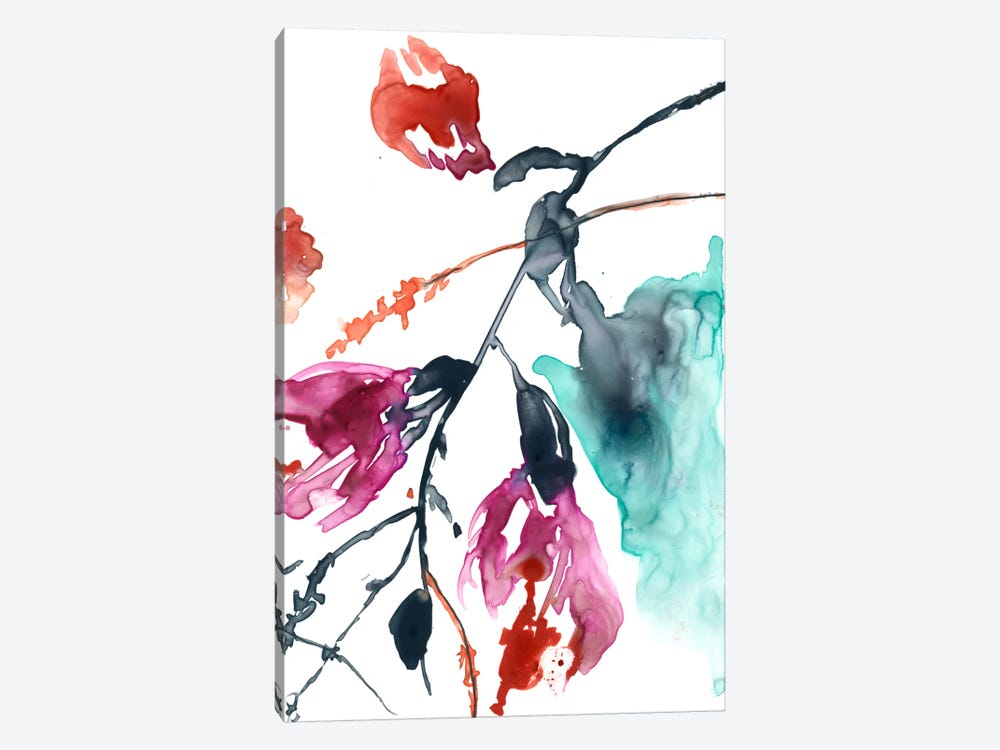 Hanging Fuchsia II by Jennifer Goldberger 1-piece Canvas Art