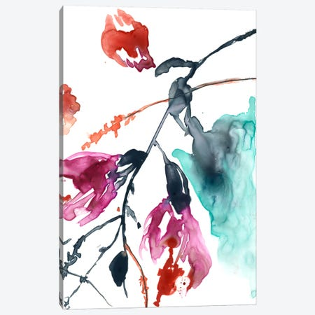 Hanging Fuchsia II Canvas Print #JGO261} by Jennifer Goldberger Art Print