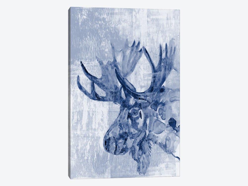 Indigo Moose by Jennifer Goldberger 1-piece Canvas Art Print