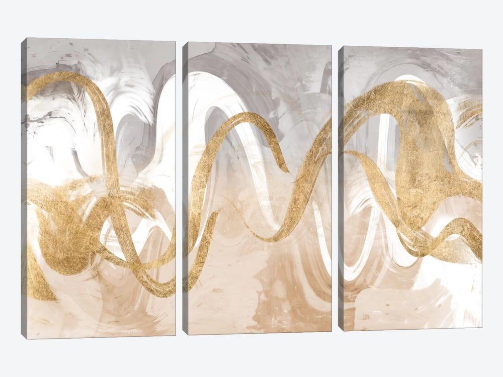 Infinite Swirl I by Jennifer Goldberger 3-piece Canvas Wall Art