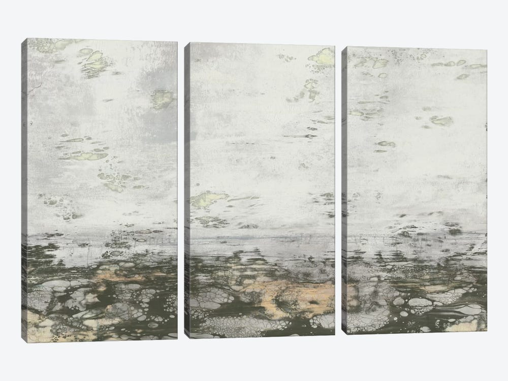 Neutral Horizon II by Jennifer Goldberger 3-piece Art Print