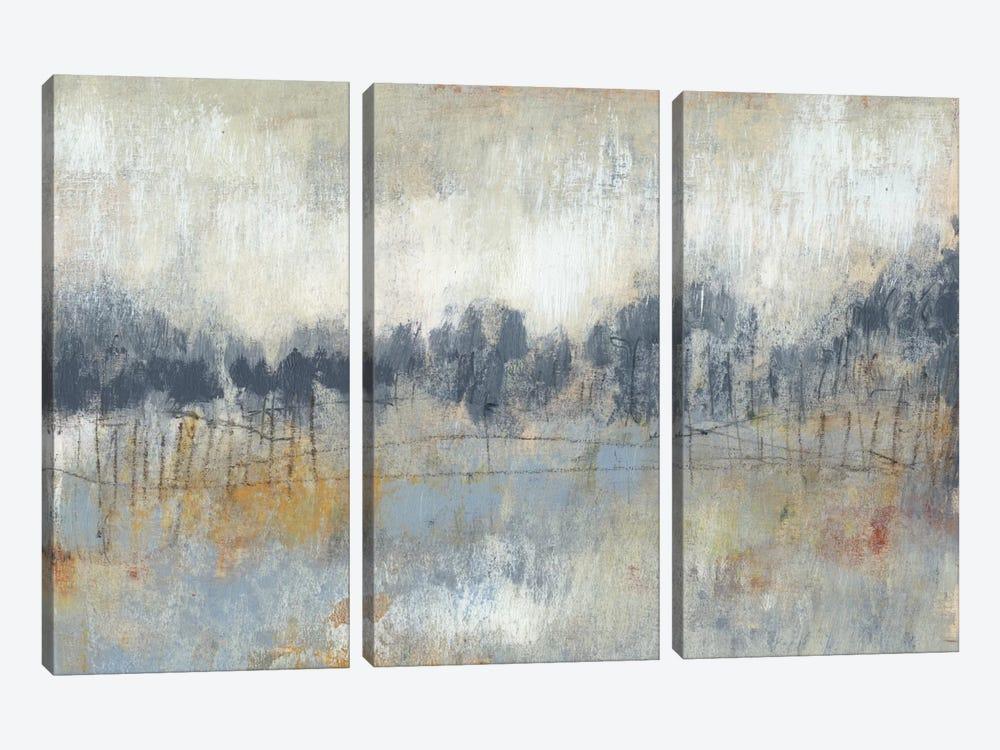 Cool Grey Horizon II by Jennifer Goldberger 3-piece Canvas Print