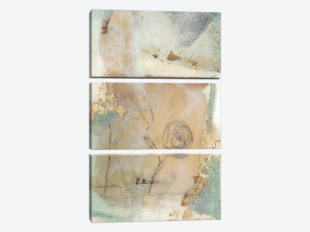 Posy Collage II by Jennifer Goldberger 3-piece Canvas Print