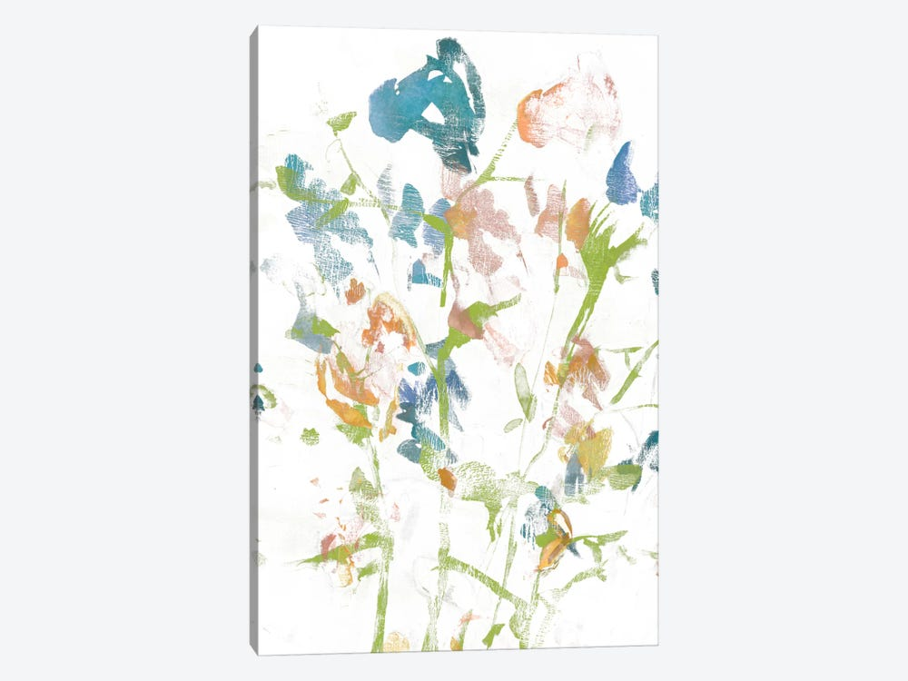 Subtle Flowers I by Jennifer Goldberger 1-piece Canvas Artwork