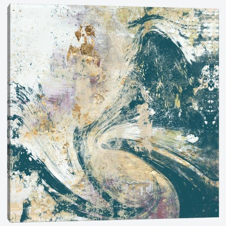 Teal Aerial Canvas Print #JGO276} by Jennifer Goldberger Art Print