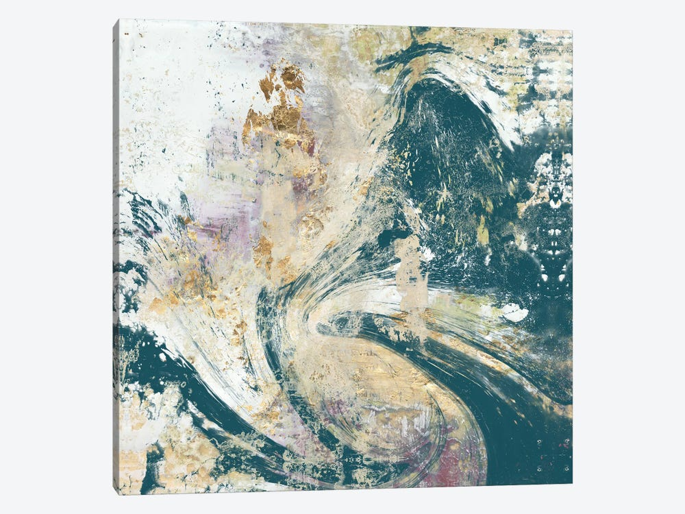 Teal Aerial by Jennifer Goldberger 1-piece Canvas Art