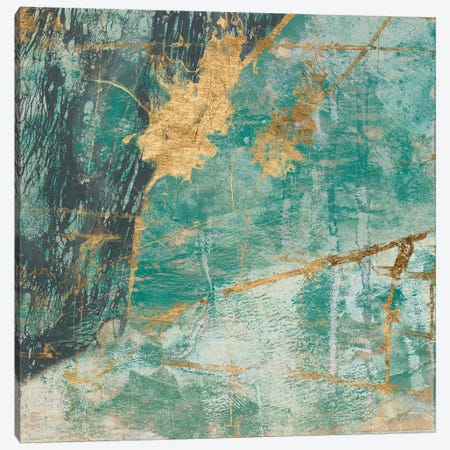 Teal Lace I Canvas Print #JGO277} by Jennifer Goldberger Canvas Art Print
