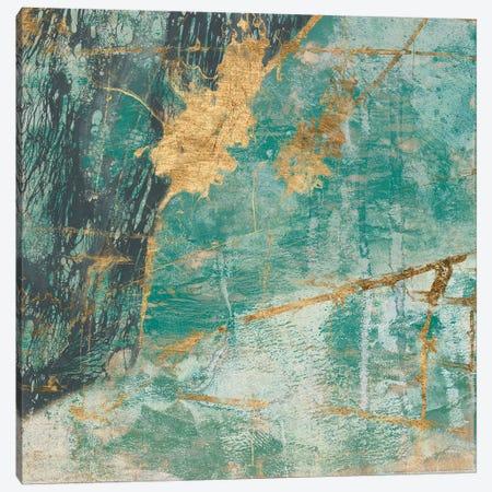 Teal Lace I Canvas Print #JGO277} by Jennifer Goldberger Canvas Art Print
