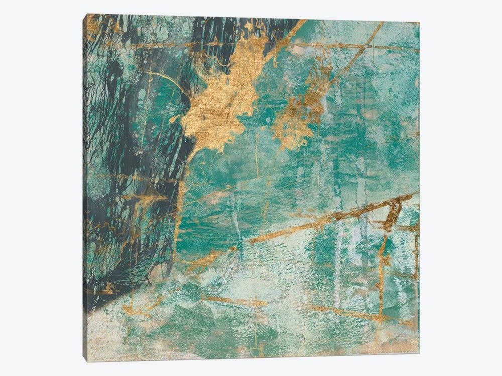 Teal Lace I by Jennifer Goldberger 1-piece Art Print